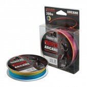 Леска плетёная AKKOI MaskArcane X4-200 (multi color) d0,12mm
